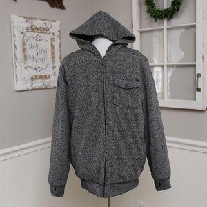 O'Neill Thick Gray Fleece Sherpa Coat WARM Large